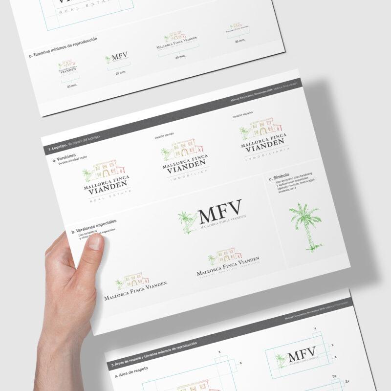 Manual de marca para inmobiliaria Mallorca Finca Vianden