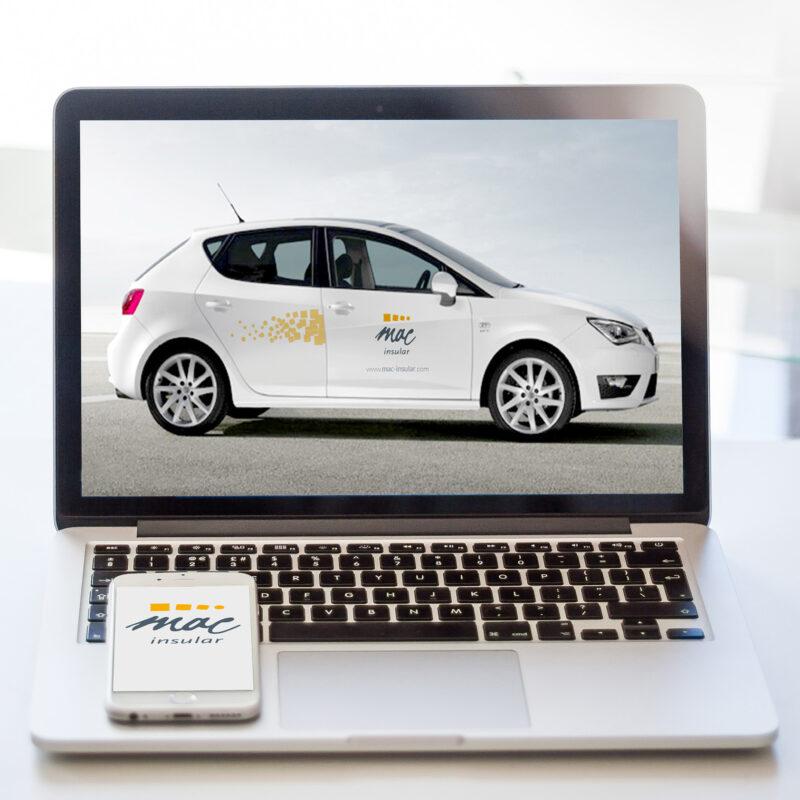 Diseño rotulación vehículo para Mac Insular